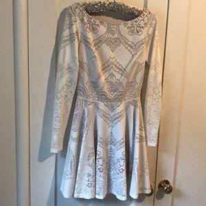 Bebe backless white lace dress